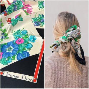 Christian Dior Twill Foulard Silk Scarf/Wrap 🧚🏻